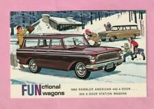 CARTE PUBLICITAIRE : RAMBLER AMERICAN 440 / 220 STATION WAGONS - 1963 -
