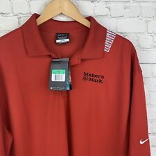 Men's Nwt Nike (Xl) Red Markers Mark Dry Fit Golf Short Sleeve Polo Msrp 59.95