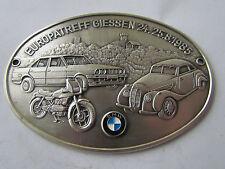 BMW EUROPATREFFEN GIESSEN 1985 BMW 327 328 E36 E30 R75  - BADGE PLAKETTE PLAQUE