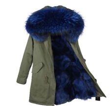 Womens Fur Parka Coat Jacket w/ GENUINE Fox Fur Lining & Raccoon Fur Hood NWT!
