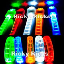 12 PCS Thick LED Rave Bracelets Glow In The Dark Party Flashing Neon