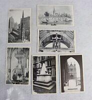 Lot of 6 Postcards Trinity Church Broadway & Wall Street New York City Postcard