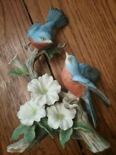 Vintage Homco Beautiful Classic Porcelain Springtime Song Blue Birds 1991 Rare