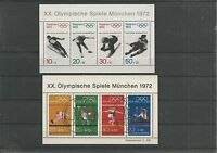 Bund XX.Olympische Spiele München Block 6 Postfrisch+ Block 8 FDC SST