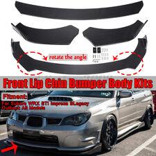Carbon Look Front Bumper Lip Spoiler For Subaru WRX STI Impreza Legacy