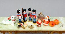 Vintage Christmas Dollhouse Accessories Lot Toy Soldier Dollhouse Miniature 1:12