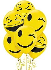 LOL Emoji Smiley 12 inch Helium Quality Latex Balloons (6 pack) - 111681
