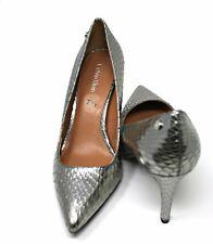 Calvin Klein High Heel Womens Shoes, Silver (Size: 7 1/2)