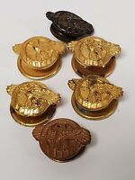 6 Ruptured Duck 5 Buttons 1 Sterling Screw Hole Pin Lapel  Army Military WWII