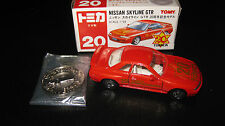 TOMY TOMICA 1.59 SCALE  #20 NISSAN SKYLINE R32 GTR + COIN BADGE 20th ANNIVERSARY