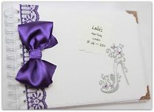 Personalised Hen Night/Party Memory/Scrap book/ Gift purple  party gift