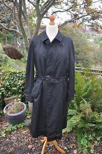 Men's Vintage/Retro Dexter Weatherproof Fine Tailored Black Trench Coat