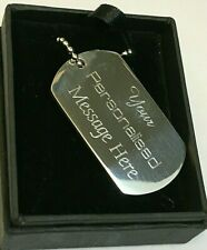 Engraved-Metal-Military-Army-Dog-Tags-ID-Tag-&-Necklace-Engraved-Free-Gift-Box