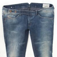 Ladies Womens Diesel CHERICK Stretch Slim Tapered Blue Jeans W29 L34 UK Size 10
