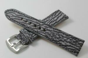 Genuine Handmade Cement Shark Leather Watch Strap (Made in U.S.A)