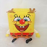 Nanco Spongebob Squarepants Cube Shaped Reindeer Stuffed Plush Animal Toy 6x6x8