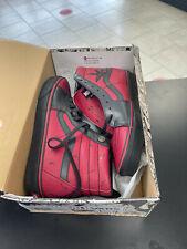 Vans x Marvel SK8-Hi Deadpool Black Red Leather Mens Sneakers SIZE 11
