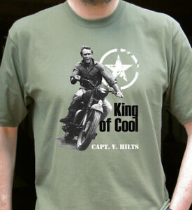 Steve McQueen King of Cool Classic Motorcycles T-shirt