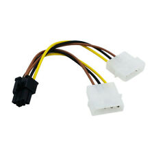 2 x Molex To 6-Pin PCI Express Cable