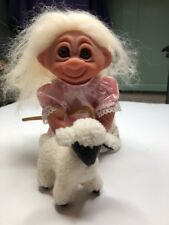 "9"" 1993 Storybook Collection Norfin White Troll Haired Bo-Peep W/Staff & Tag New"