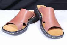 "Easy Spirit Size 7.5 N  ""Halls"" Brown (CinnaStck) Leather Sandals New"