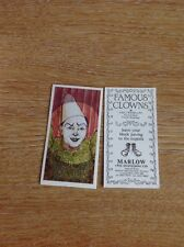 Trade Card Marlow Clowns Viko Fratellini Cirque Medrano Circus No 18