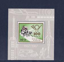 Hongrie  bloc   centenaire de la poste autonome   1967   num: BF 66     **