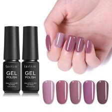 Lilycute 7ml UV Gel Nail Polish pálido Malva Soak Off Gel Uñas Manicura Salón de Arte
