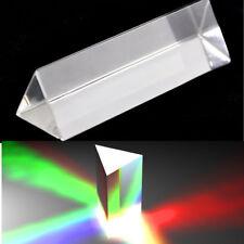 10cm Optical Glass Triangle Prism Physics Teaching Light Spectrum Kids Toy Gift