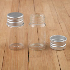 10 pcs 15ml 27x53mm Small Clear Glass Bottle Vial Pendant With Aluminum Lid