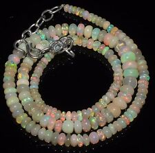 """62 Ctw 1Necklace 3to6.5mm17""""Beads Natural Genuine Ethiopian Welo Fire Opal RR553"""