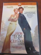 HOW TO LOSE A GUY IN 10 DAYS USED DVD KATE HUDSON MATTHEW McCONAUGHEY