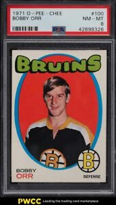 1971 O-Pee-Chee Hockey Bobby Orr #100 PSA 8 NM-MT