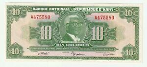 Haiti 1919 10 Gourdes ( AUNC ~ UNC- )