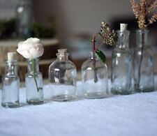 1 x Mini Glass Bottles With Cork Stopper - Drinks Wedding Favours (small narrow)