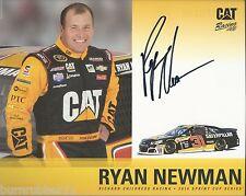 "SIGNED 2016 RYAN NEWMAN ""CATERPILLAR CHEVY RCR"" #31 NASCAR SPRINT CUP  POSTCARD"