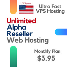 Alpha Reseller Web Hosting - UNLIMITED cPanel, WHM, Bandwidth, Domains (Monthly)