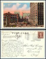 CANADA Postcard-Vancouver, Hastings Street Looking North From Victory Square D16