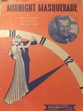 Midnight Masquerade Sammy Kaye Vintage Sheet Music Bernard Bierman Arthur Berman