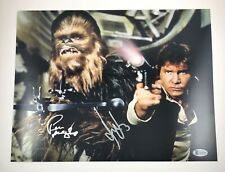 Harrison Ford Peter Mayhew Signed Autographed Star Wars 11x14 Photo Beckett COA