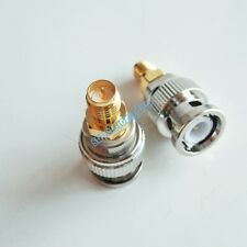 BNC male plug to RP-SMA female jack center coaxial RF Adapter Connector