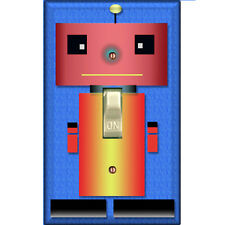 Robot - Single Decorated Light Switch Cover - DS-110
