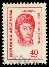 "ARGENTINA 1100  (Mi1316) - Jose de San Martin ""1977 Rose Red"" (pf22093)"