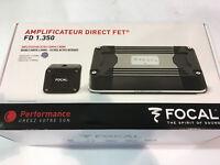 FOCAL FD 1.350 AMPLIFICATORE MONO CANALE CLASSE D COMPATTO 700 W NEW AUTO CAMPER