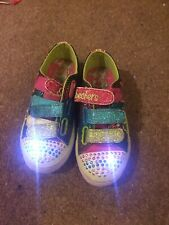 Girls Sketchers Twinkle Toes Kids Size 11 Trainers