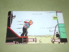 tintin sue une locomotive (train) carte téléphonique  (phone card) OBJET BD