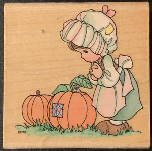 Stampendous Precious Moments Pumpkin Girl Rubber Stamp