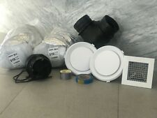 TWO ROOM - HEAT TRANSFER KIT Insulated Ducting Transfers Heat From 1 to 2 Rooms