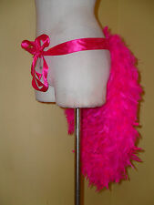 NWT SMALL Costume Showgirl Burlesque Ribbon Feather Bunny Tail Skirt Tutu Bustle