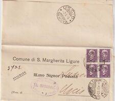 ITALIA 6/5/1946 UMBERTO RE DI MAGGIO LETTERA DA S.MARGHERITA LIGURE PER USCIO